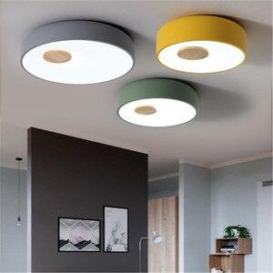 Image 1 - Plafonnier en bois et acrylique au Style nordique, LED, luminaire créatif dintérieur, luminaire de plafond, idéal pour une chambre à coucher ou une cuisine