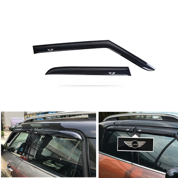 For BMW Mini Cooper Countryman F60 2017 2018 2019 Window Visor Sun Rain Wind Deflector Awning Shield Vent Guard Shade Cover 4Pcs window visor vent shades sun rain guard 4pcs for volvo xc60 2009 2015