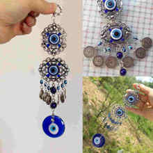 Blue Evil Eye Amulet Protection Turkish Hanging Blessing Lucky Gift Home Decor Rhinestone