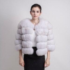 Image 5 - QIUCHEN PJ1801 2020 nouveauté femmes hiver réel manteau de fourrure de renard épais fourrure femmes veste dhiver livraison gratuite