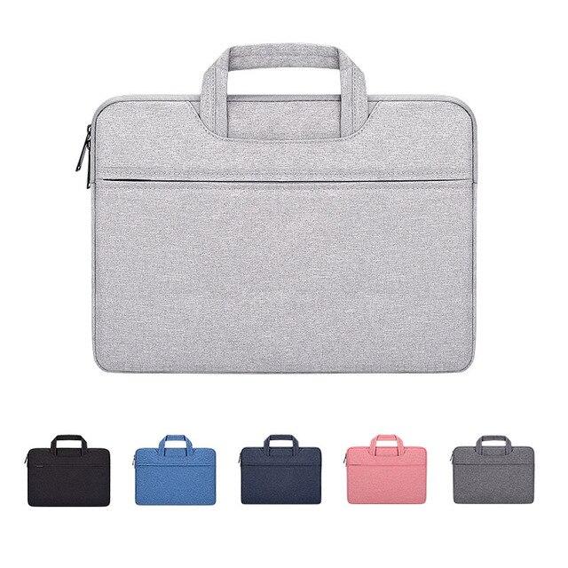 حقيبة يد للحاسوب المحمول كم كيس واقية حقيبة Ultrabook دفتر حمل حقائب 13 14 15 15.6 بوصة لماك بوك اير برو آسوس أيسر ديل