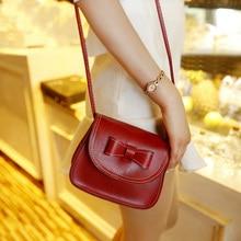 Fashion Women Bag Shoulder Bowknot Satchel crossbody PU leather Tote Handbag Women messenger bags bolsa de ombro mensageiro saco