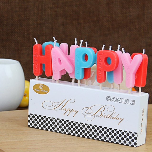 1 Set Hot Birthday Candles Cake Decoration Baby Shower Home Party Use Ideal Red Pink