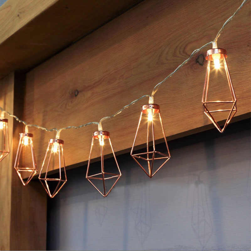 10led/20led Decorative Diamond LED String Lights Rose Gold Fairy Light string for Christmas Party Wedding Bedroom Led Lights