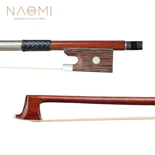NAOMI 4/4 Arco de Violino Para Violino Acústico/Violino 4/4 Violino Arco Para O Aluno Iniciante Violino Peças Acessórios Novo