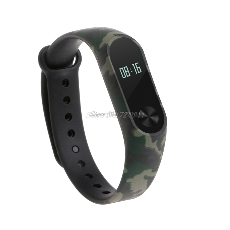 Camouflage TPU Wristband Bracelet Strap Replacement For Xiaomi MI Band 2 Smart Watch Electronics Stocks