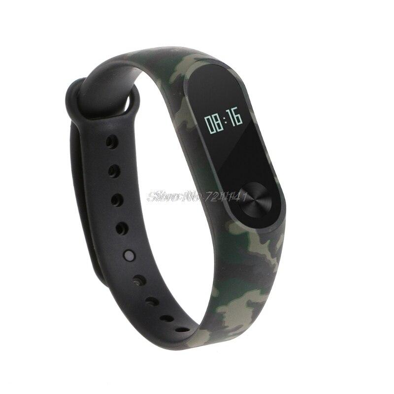 Camouflage TPU Wristband Bracelet Strap Replacement For Xiaomi MI Band 2 Smart Watch Electronics Stocks