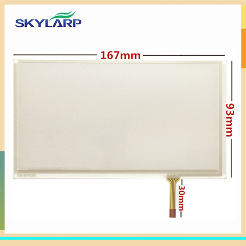 skylarpu 2 pcs New 7 inch touch screen 167mm*93mm for TM070RDH01 C070VW03 V0 Digital screen car DVD GPS navigation touch panel zhiyusun gt911 6 pin 167 93mm line touch screen car dvd navigation 7 inch capacitive universal car audio capacitor type