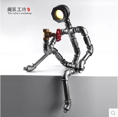 Robot Shaped LED Table Lamp For Bedroom Modern Table Lamps For Living Room Bar,Abajur Lampara De Mesa Lampe