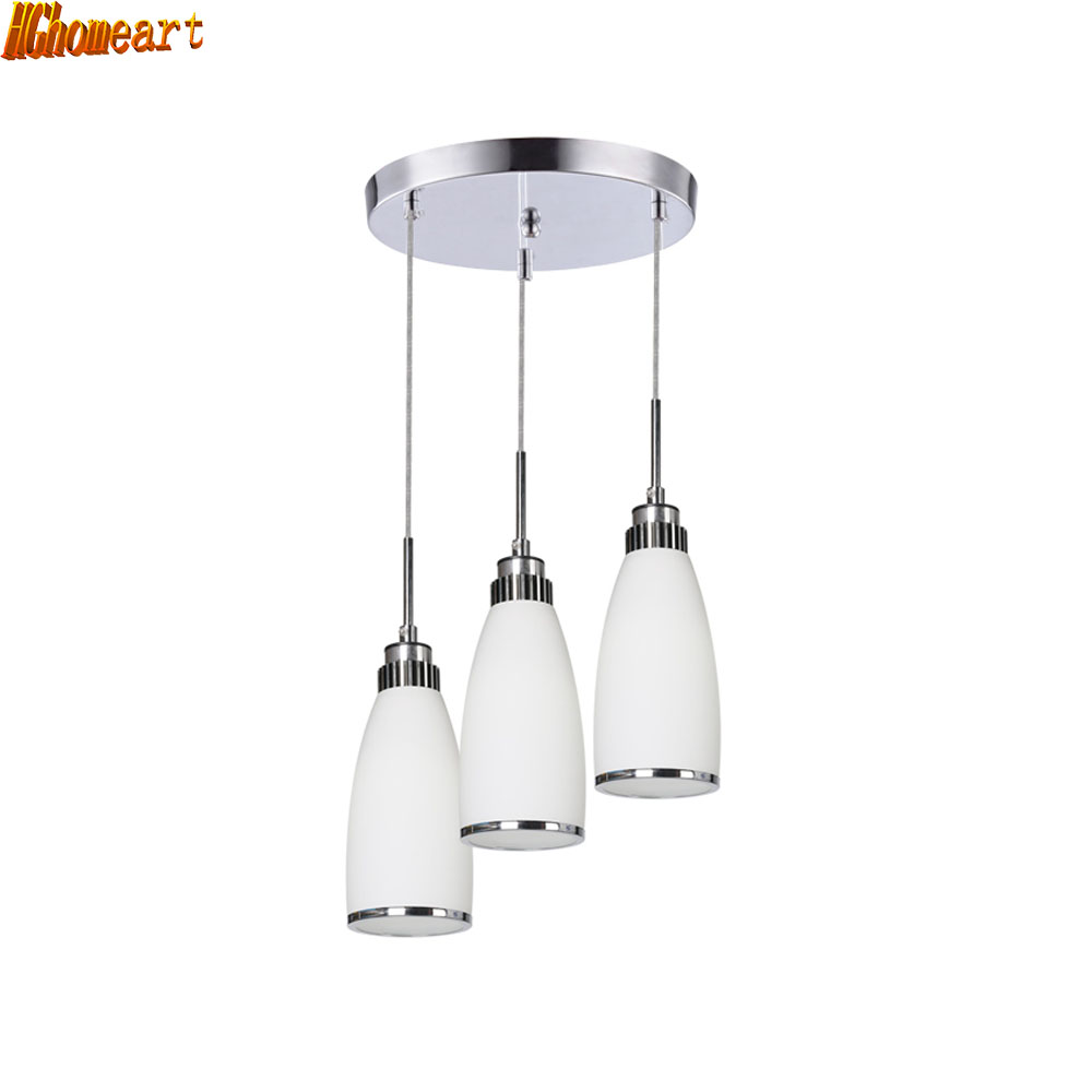 HGhomeart Modern LED Pendant Lamps Iron Metal Light Fixtures Fashion Bedroom Decorative Restaurant Dining Kitchen Pendant Lights hghomeart american retro style iron led pendant lights room dining bedroom led personalized cartoon loft lamps light fixtures