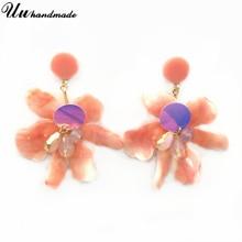 Boho Acrylic Flower Earrings Aretes Pendientes Earings fashion jewelry Aros mujer oreja Moda Boucle doreille femme 2019