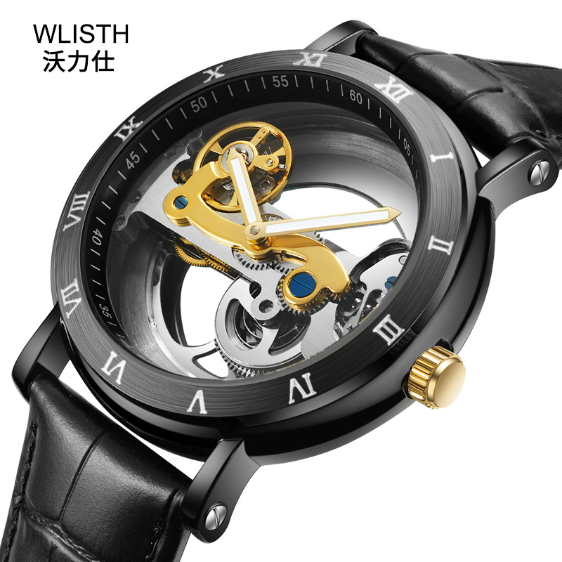New Hollow Male Watch Sports Men Automatic Mechanical Watch Waterproof Relogio Masculino Steel Table Top Brand Luxury Man Clock все цены
