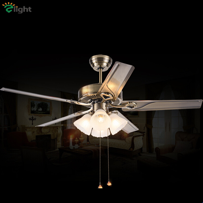 Ceiling Lights & Fans Modern Folding Leaf Dimmable Led Ceiling Fans Lustre Crystal Dining Room Led Ceiling Fan Lamp Gold Metal Led Ceiling Fan Lights