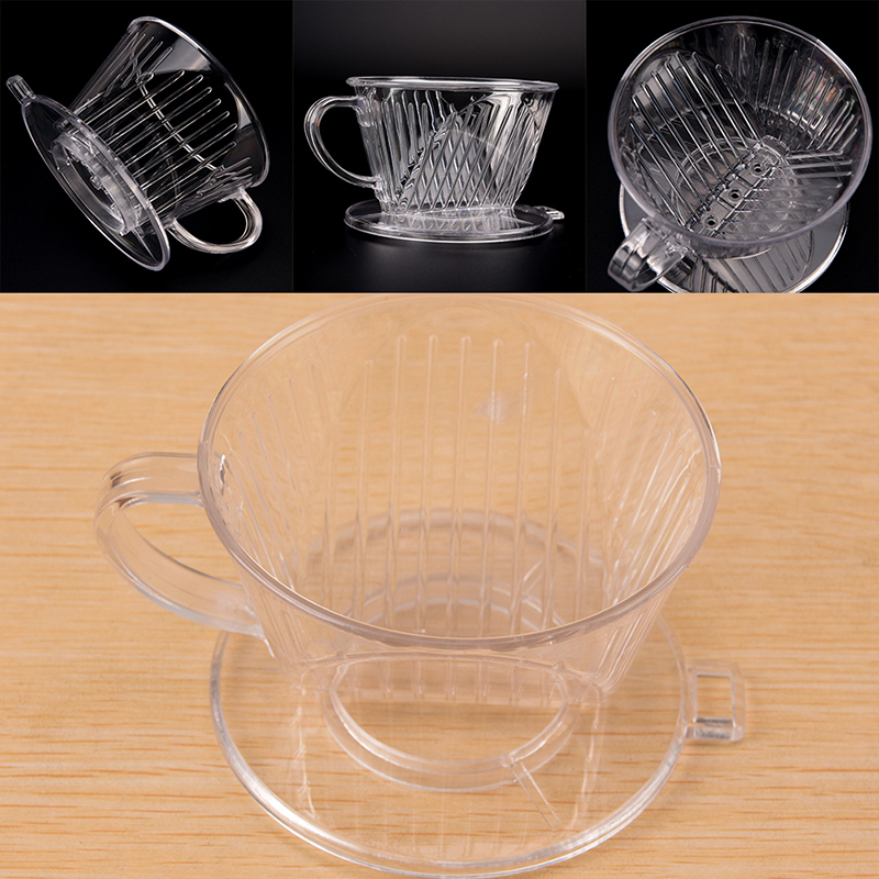 1 Pcs PP Resin Coffee Filter Cup Drip Coffee Bowls Manually Follicular Filters Coffee Tea Tools