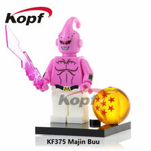 KF375 Super Heroes Dragon Ball Z Figures Majin Buu Tien Shin Han Master Roshi Building Blocks Action Collection Toys Children(China)