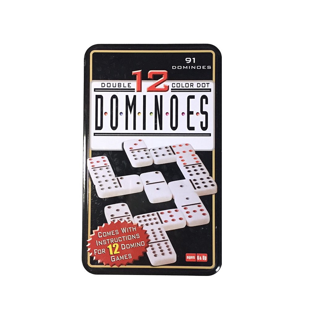 91PCS Domino Set Double 12 Dominoes with Metal Box Pai Gow Board ...