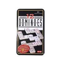 91PCS Dominó Conjunto Doble 12 Domino Board Game con Caja Pai Gow Juegos de Mesa para Niños y Adultos Dominoes Juego de Mesa