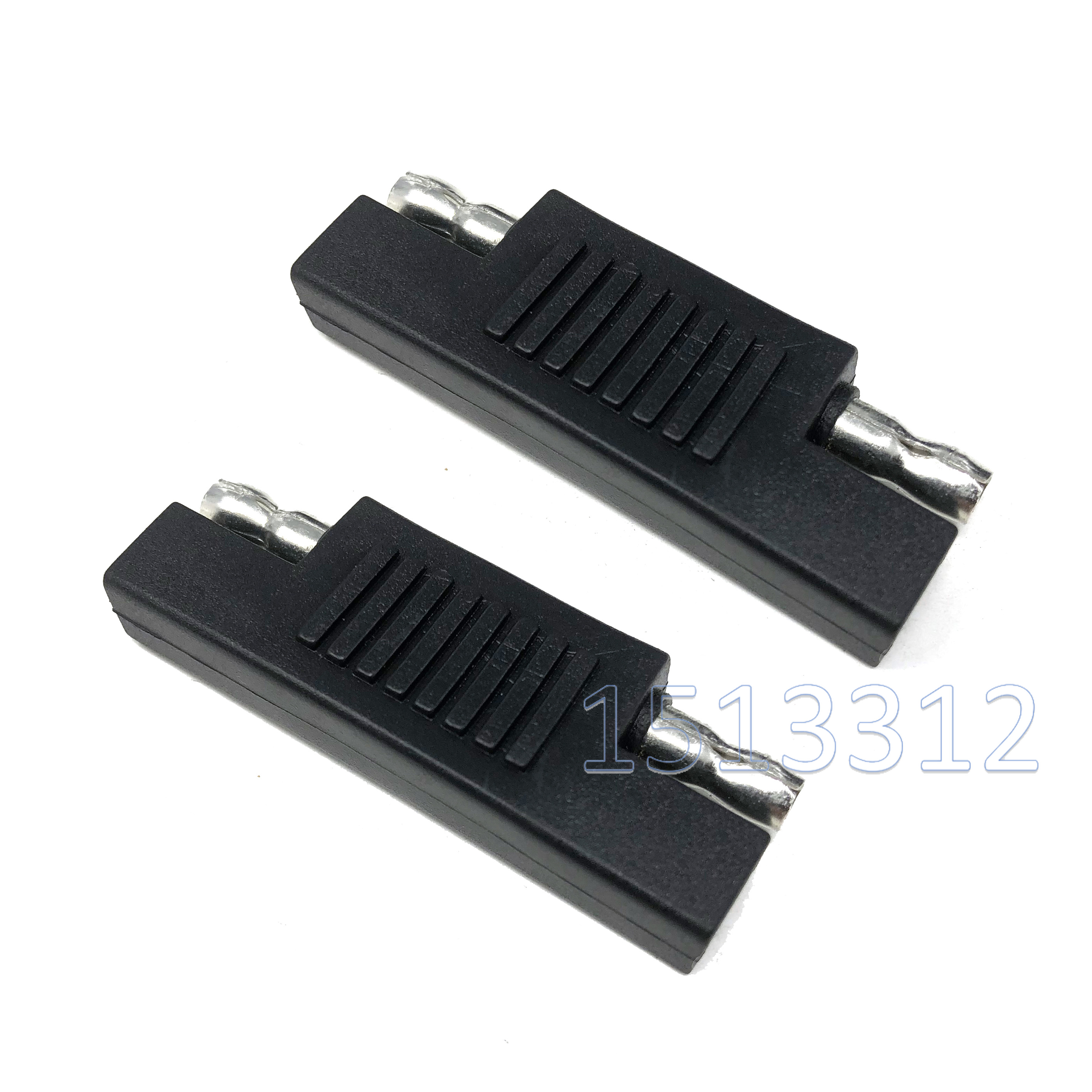 2PCS Solar SAE Polarity Reverse Adapter Connectors For Quick Disconnect Extension Cable Solar Panel Battery Power Maintainer