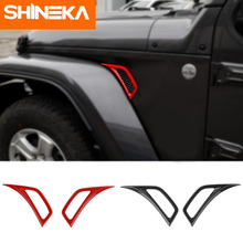 SHINEKA Car Stickers For jeep wrangler jl Leaf plate air inlet decoration ABS Sticker for accessories