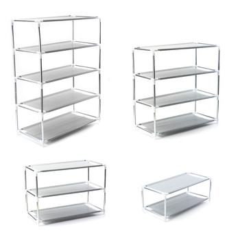 Best Price 2-5 layers Shoe Rack Plastic parts Steel Pipe Shoes Shelf Easy Assembled Storage Organizer Stand Holder Space Saving