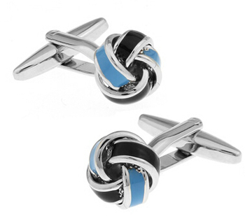 Free Shipping Metal Knot Cufflinks Gold Color Knot Design Hotsale Copper Material Cuff Links Whoelsale&retail