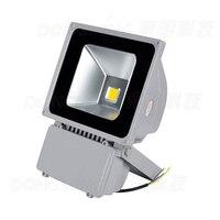 На продажи RGB светодиодные лампочки потока AC85-265V Светодиодный прожектор 80 Вт напольный белый IP65 водонепроницаемый 6500LM 100 шт.