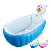 031449 Hot 100*30 cm GROEN PVC opblaasbare Baby Bad Dikke & soft Cartoon Baby Bad voor familie gebruik met Back en hoofd kussen
