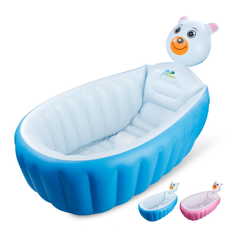 031449 Hot 100*30cm GREEN PVC inflatable Baby Bath Tub Thick&soft Cartoon Baby BathTub for family use with Back and head pillow funny summer inflatable water games inflatable bounce water slide with stairs and blowers