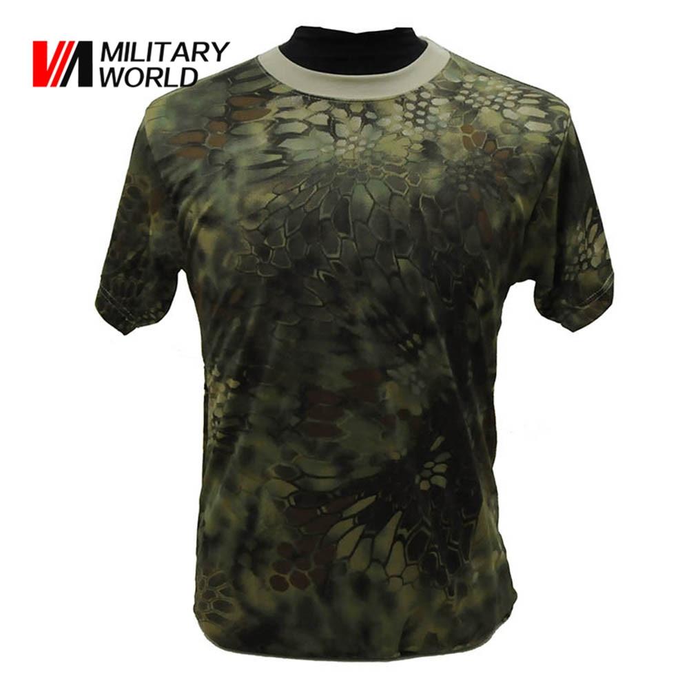 Prix pour Airsoft Séchage rapide T-shirt Hommes Armée Tactique Miltiary Chasse T-shirt Manches Courtes Homme Vêtements Camo Chemise Vêtements Sportwear