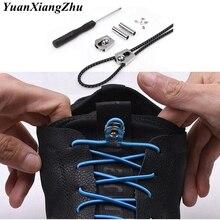 1Pair No Tie Shoe Laces Elastic Metal buckle Round Shoelaces Kids Adult Quick Lazy Sneakers Shoelace Shoestrings