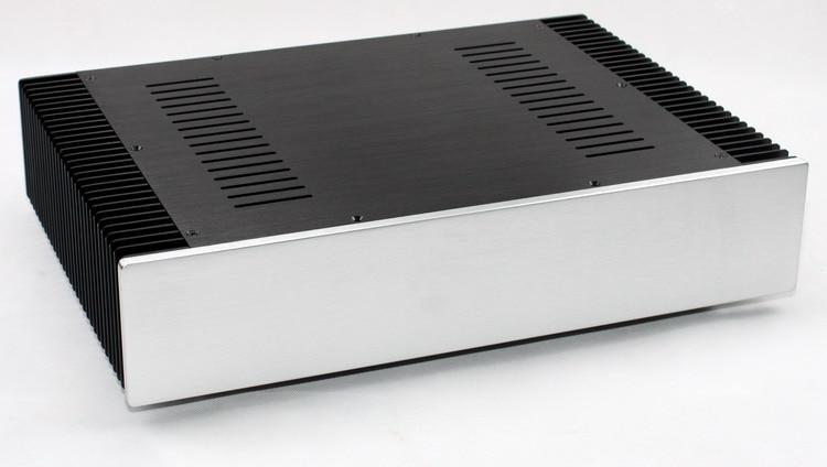 купить WA108 All-Aluminum / Class A AMP Power Amplifier Chassis / DIY Box (430 * 90 * 308mm) по цене 4952.26 рублей