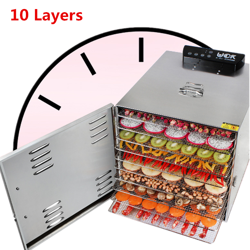 Home 800W Food Dehydrator Fruit Vegetable Herbal Meat Drying Machine Snacks Food Dryer Fruit Dehydrator computer controlled home food dryer machine 6 layer design fruit vegetable dehydrator 360 degree cycle drying dryer drying tool