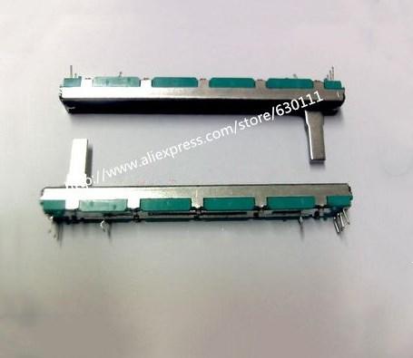 5PCS misturador fader Potenciômetro Potenciômetro B10K B20K B50K Original B10K 75MM B10KX2 B20K * 2 B50K * 2