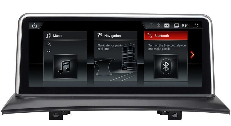ID6 10,25 Android 4,4 автомобильный мультимедийный плеер GPS навигация для BMW X3 E83 2004 2009 с BT DVD SD USB AUX WiFi 4 ядра 1280*480