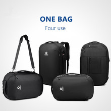 Купить с кэшбэком OZUKO Men's Multifunction 15.6 inch Laptop Backpacks Fashion Schoolbag for Teenager Waterproof Male Mochila Travel Bags 2019 New