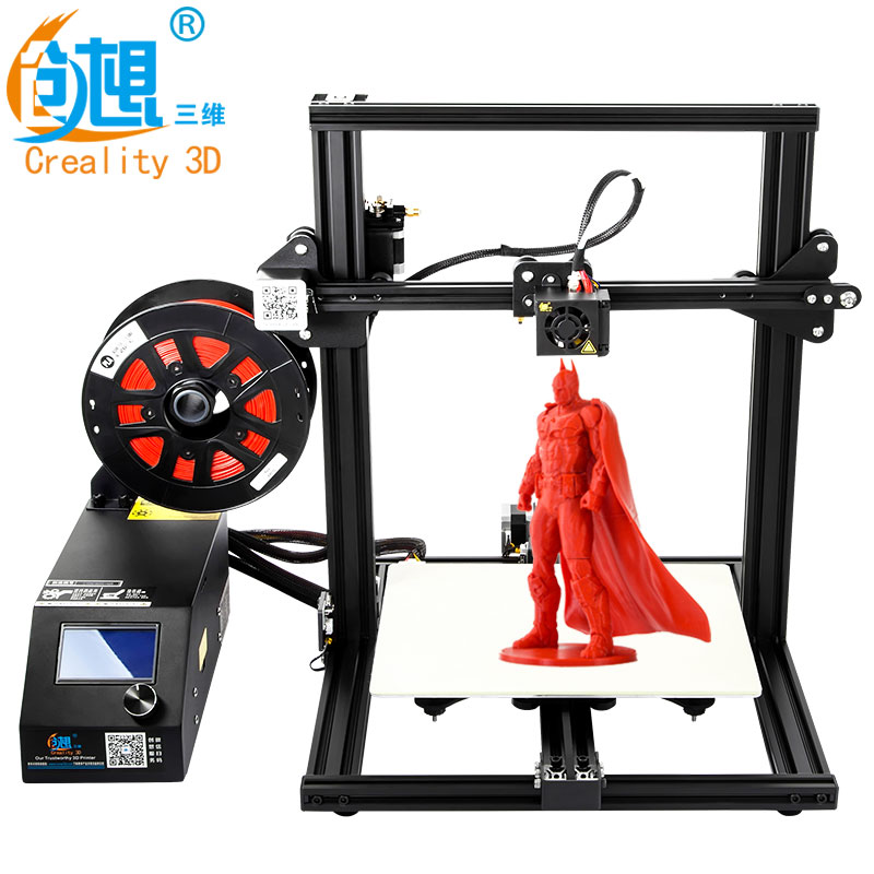 Creality 3D Official Store Creality CR-10Mini 3D Printer Large Printing Size 300x 220x 300mm resume power off 3d printer Kit zonestar newest full metal aluminum frame big size 300mm x 300mm auto level laser engraving run out decect 3d printer diy kit