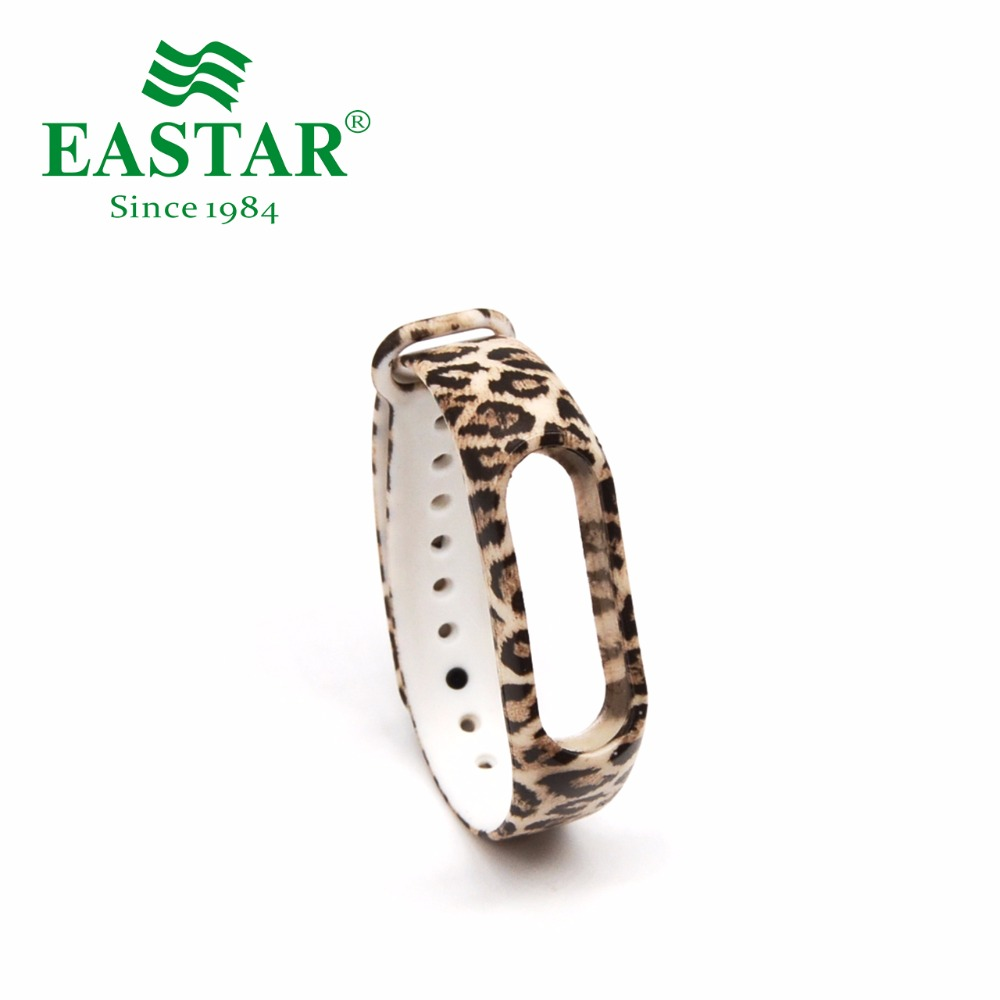 Eastar Smart Watch Strap Accessories For XiaoMI Band Colorful Replacement Wristbands Leopard Print Silicone Band For Mi Band 2 2017 ladies hand bags famous brand women handbags woman fashion pu leather pochette shoulder bag big capacity tote bags purse
