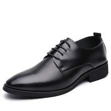 men wedding shoes microfiber leather formal business pointed toe for man dress shoes men's oxford flats leather shoes