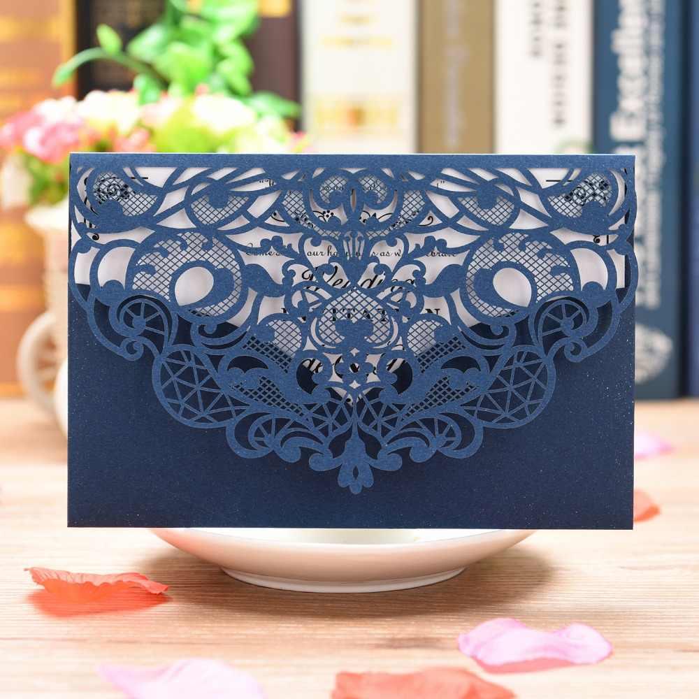 1 Pieza Flores Diseño Bolsillo Estilo Tarjeta De Invitación