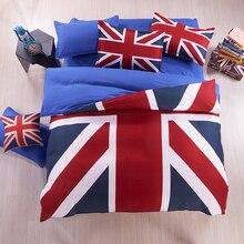 2017 Verano textiles para el hogar ropa de cama sábana funda nórdica beding colcha de Union Jack de La Bandera Americana de Verano housse de couette
