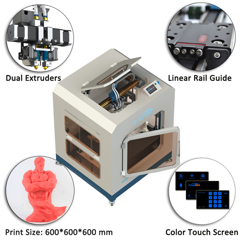 2016 Full Metal case High Precision FDM DIY 3D printer D600 3D kit - Elektronik pejabat - Foto 5