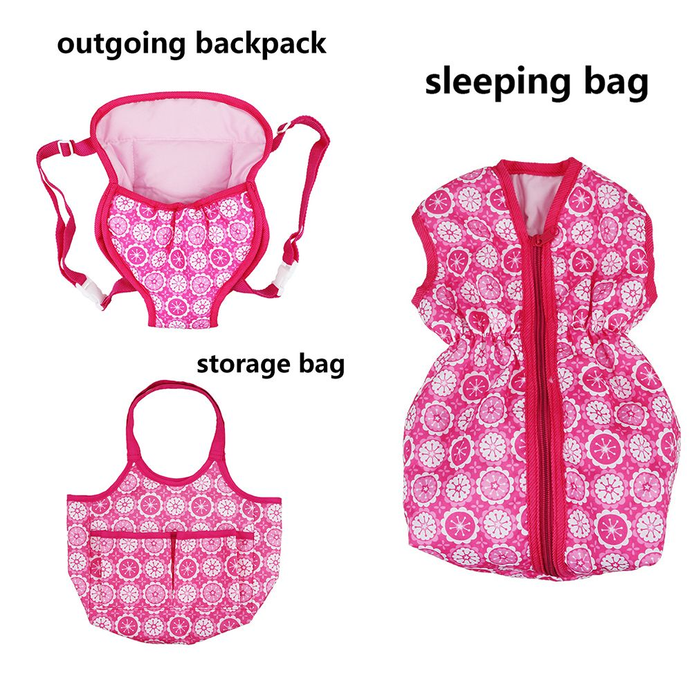 Toys & Hobbies 18inch Doll Sleeping Bag Baby Swaddle Backpack Toy Wear Outgoing Role Play Doll Clothes Accessories For Reborn Dolls