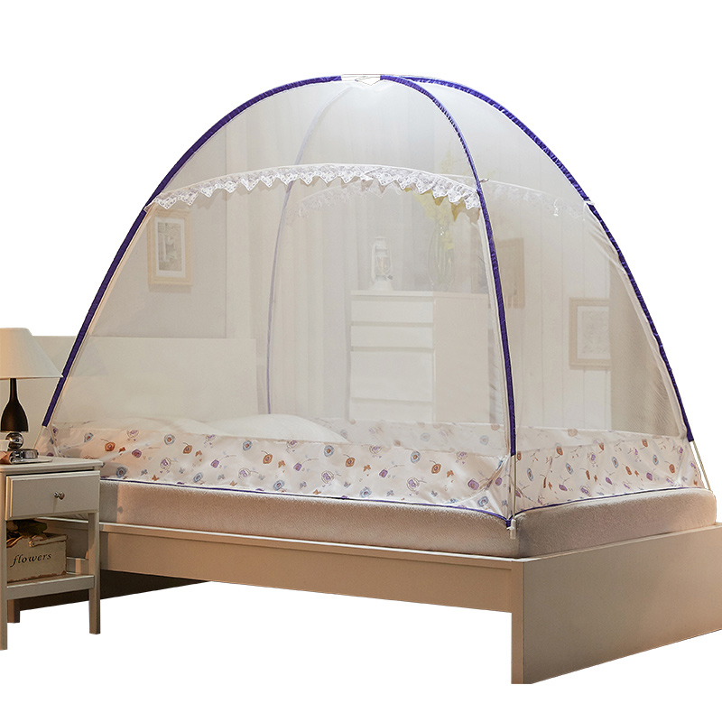 2018 New Summer Mosquito Net Adult Double Single Bed Yurt Mosquito Net Home Outdoor Travel Canopy Bed Netting Mosquitera For Kid