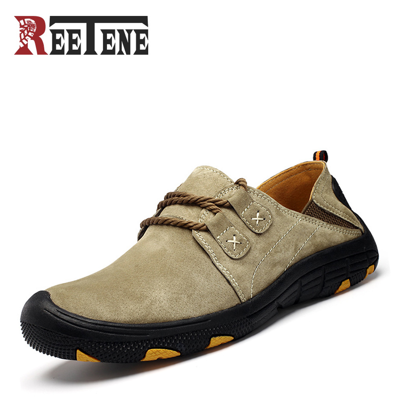 Spring Autumn New Men's Casual Shoes Genuine Leather Lace Up Non-slip Men Loafers Handmade Comfortable Outdoor Male Shoes fashion brand genuine leather shoes for women casual mother loafers soft and comfortable oxfords lace up non slip flat moccasins
