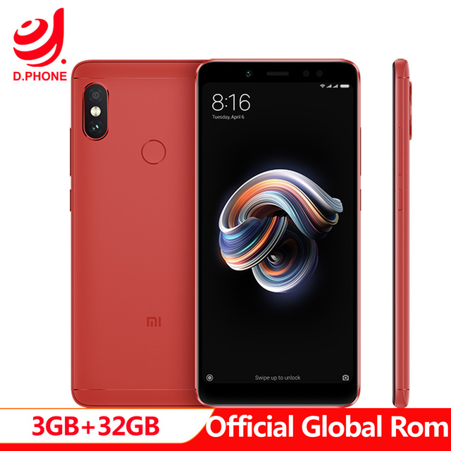"Official Global Rom Xiaomi Redmi Note 5 3GB RAM 32GB ROM Snapdragon 636 Octa Core MIUI9 5.99"" Full Screen 4G TD LTE Smartphone"
