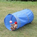 Foldable 1 Holes Pet Cat Toy Tunnel Funny Toys Kitten Play Tunnel with Hanging Ball Cat Supplies Rabbit Play Products for Cats