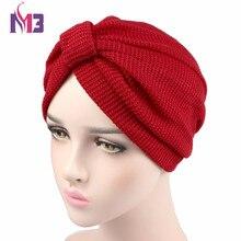 New Fashion Women Knit Turban Plush Wool Lining Turban Ladies Stretchy Turban Headband Hijab Turbante Hat Headwrap new fashion women knit turban plush wool lining turban ladies stretchy turban headband hijab turbante hat headwrap