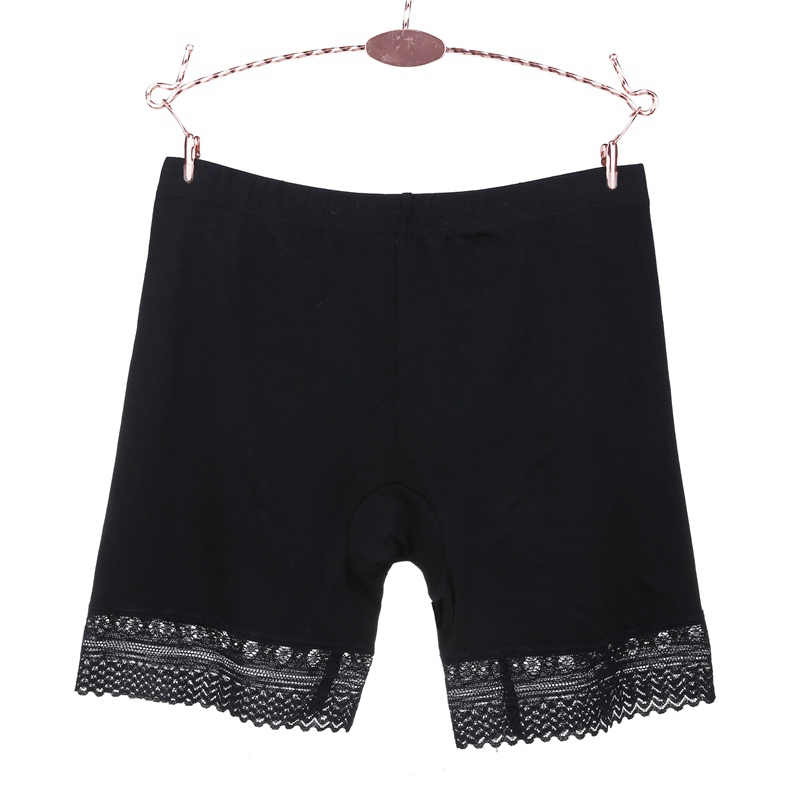 Modal Summer Comfy Women Hot Pants Safety Pants Seamless <font><b>Sexy</b></font> Lace Panties Ultra-Thin Solid Color <font><b>Boxer</b></font> <font><b>Femme</b></font> Short Feminino image