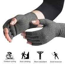 Winter Warm Cotton Sport Half Finger Ski Gloves Cycling Hiking Climbing Fitness Anti Arthritis Glove Compression Therapy