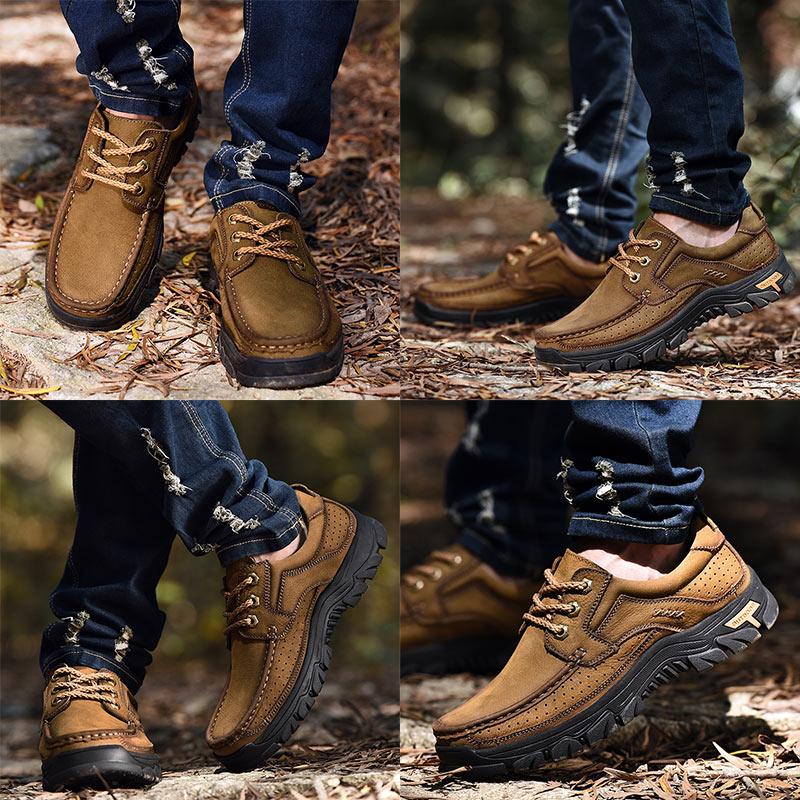 Pria Kulit Sepatu Kasual Oxfords Handmade sepatu Lace Up Gennine - Sepatu Pria - Foto 3